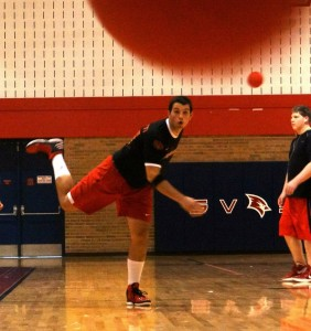 Blake Grivetti had a good game for SVSU in their match against the defending champion GVSU Lakers.